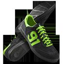 91 Black/Gecko Green